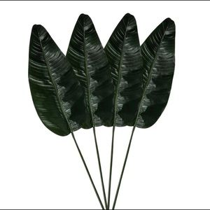 NEW Set of 4 Threshold Artificial Palm Leaf Stems